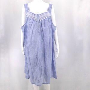 NWT CROFT & BARROW 3X Intimates Night Gown Blue